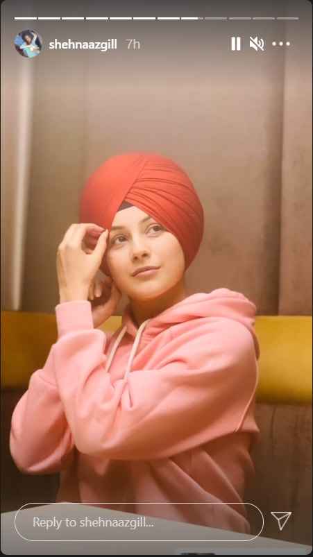Shehnaaz Gill Looks Cute in Red Turban in Her Latest Instagram Pics