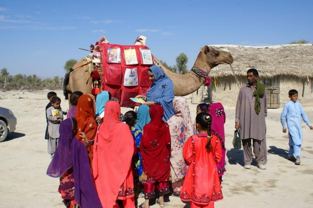 Meet Roshan, the Camel Who Brings Books Home to Kids Unable to Attend School in Pakistan