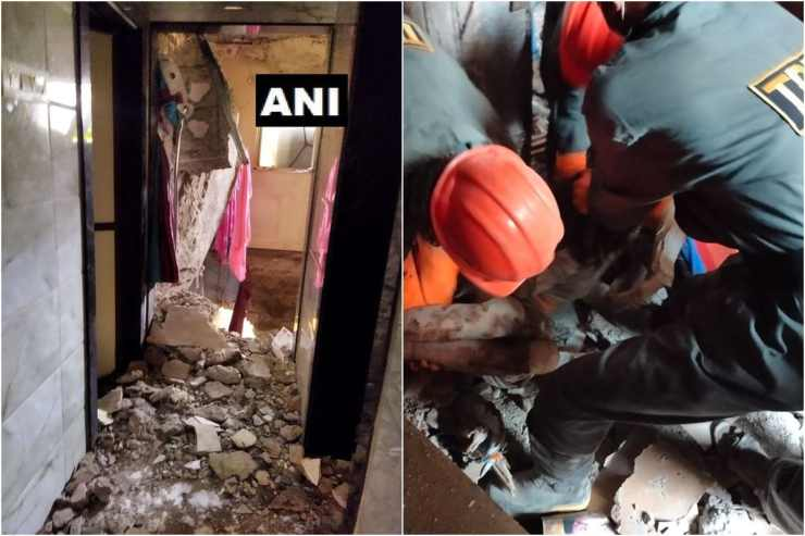 Rescue operation at the Ulhasnagar building. (Image: Twitter/ANI)
