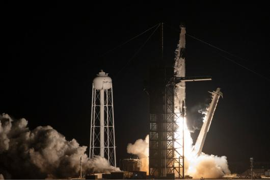 The SpaceX Falcon 9 rocket, with the company's Crew Dragon spacecraft on board, takes off during the Demo-1 mission at the Kennedy Space Center in Florida on March 2, 2019.  (Image: AFP Relaxnews)