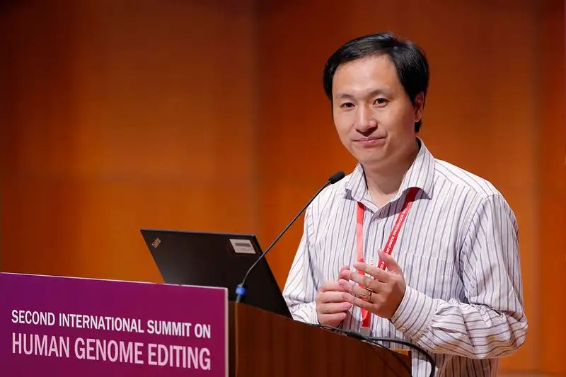 He Jiankui at the Human Genome Editing Conference in Hong Kong