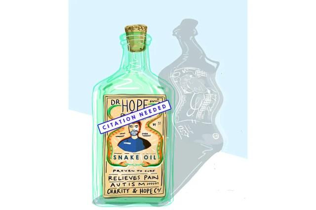 snake oil cartoon