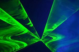 green patterned light