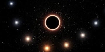 Our galaxys huge black hole may have created organic molecules