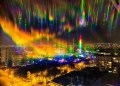 Psychedelic skies over Chile reveal the full extent of light pollution