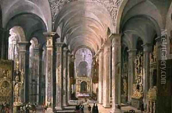 Interior of a Church oil painting reproduction by Francois de Nome     Interior of a Church