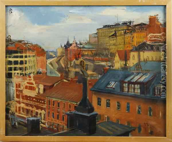 Stockholm Oil Painting Reproduction By Gunnar Berg