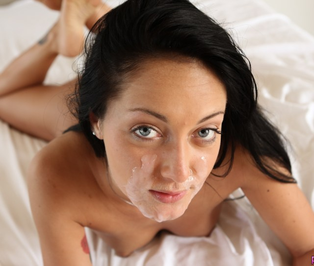 Sexy Petite Brunette Gets Herself Going Before Her Man Comes And Takes Over