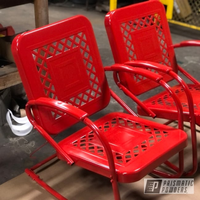 steel patio furniture finished with ral