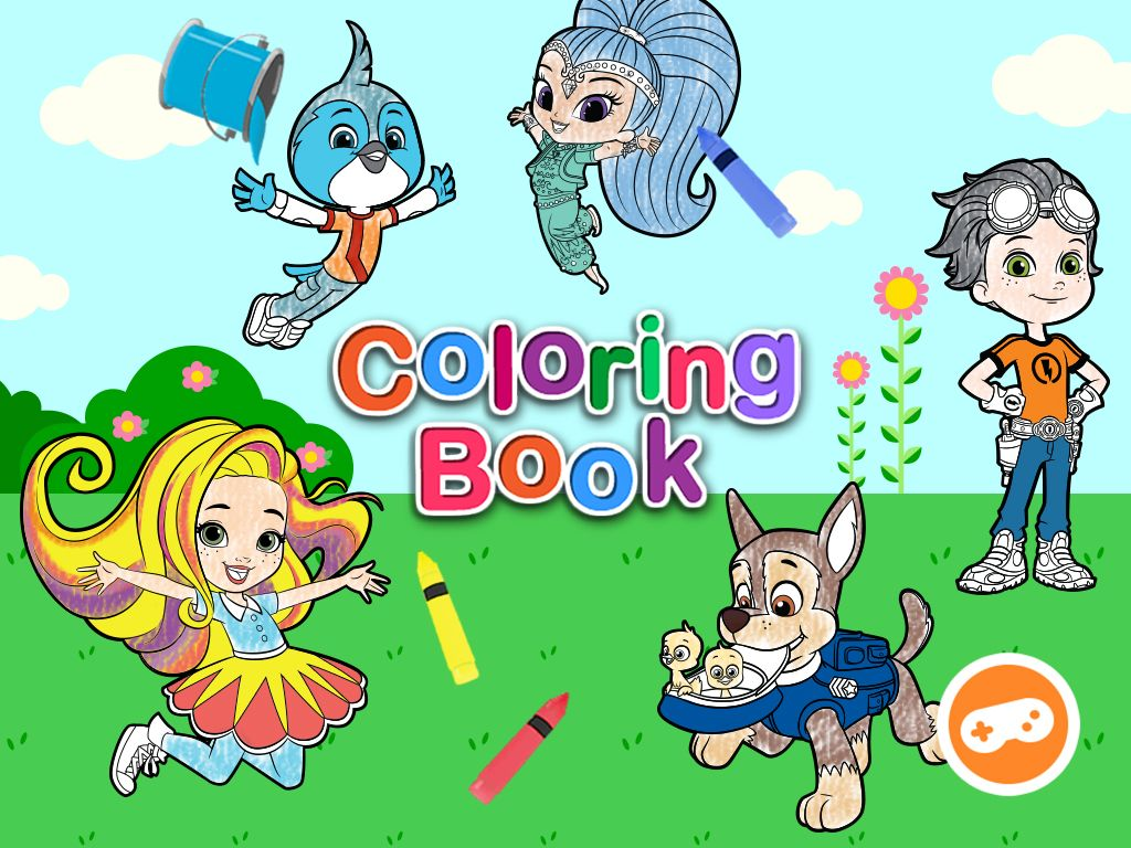 Nick Jr Coloring Book Coloring Pages For Kids