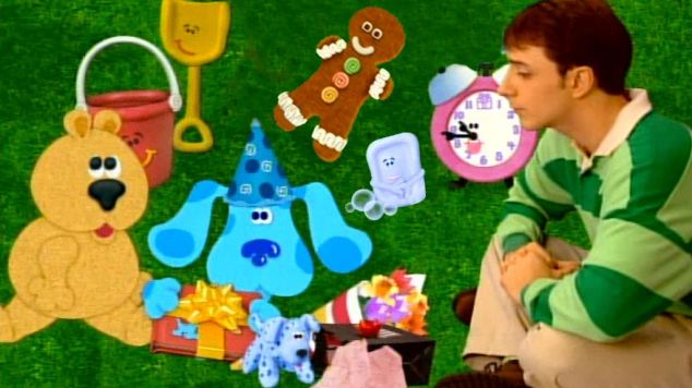 still from Present Time episode of Blue's Clues