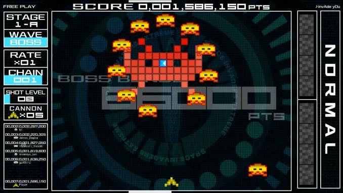 Dieses Bild zeigt einen der 3 Titel von Space Invaders Forever