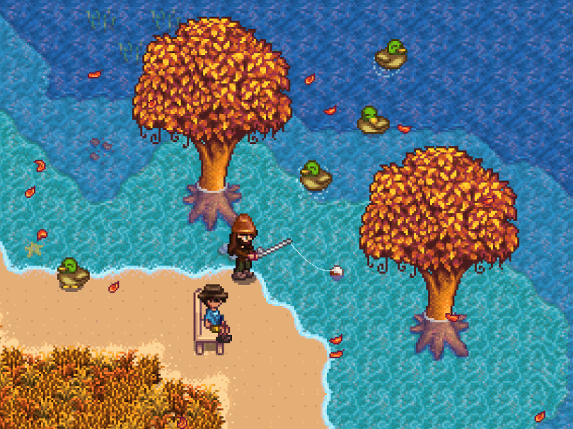 Beach farms are great for fishing