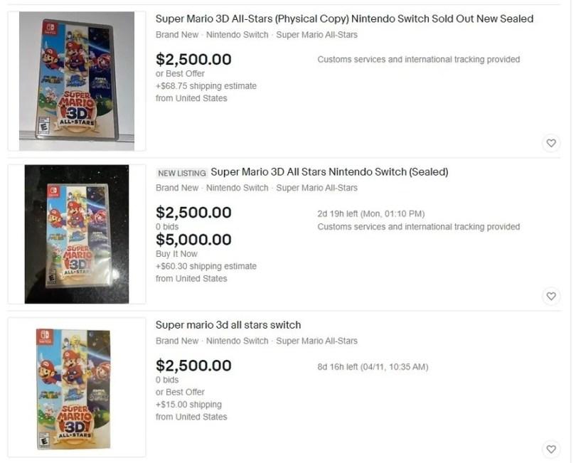 Super Mario 3D All Stars EBay Nintendo Life IMG