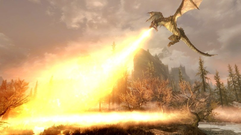 There are dragons in Skyrim? I thought it was a game about nicking cheese