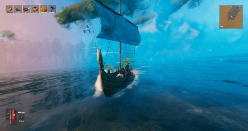 Chaotic adventures in Valheim with my buds