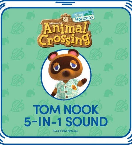 The voice chip options for Tom Nook