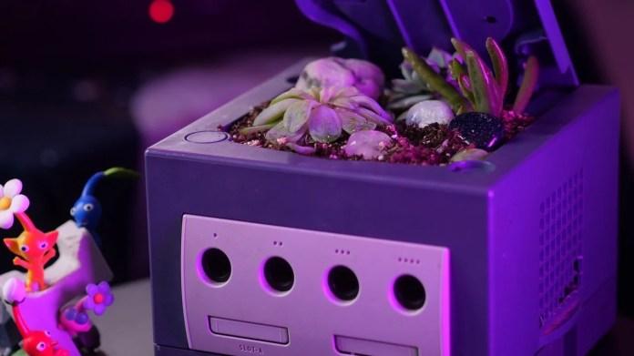 Random: Someone Turned A Nintendo GameCube Into A Flower Pot