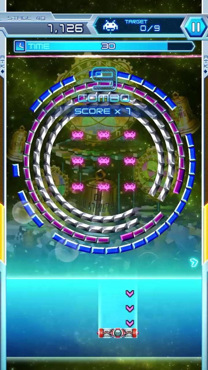 "Dieses Bild zeigt ""Arkanoid vs. Space Invaders"". Diese zwei Klassiker werden in ""Space Invaders Forever"" aufeinandertreffen."