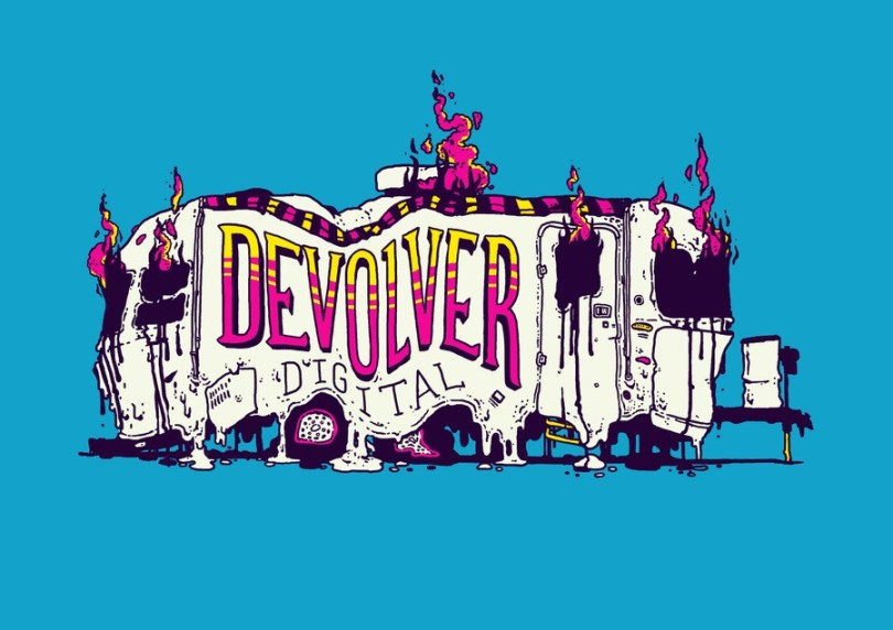 Devolver Digital has a major presence in the 'business section' of many events
