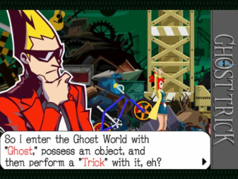 """Sissel describes how to play the game: possess items, then perform """"tricks"""" with them"""