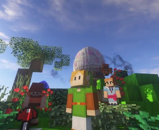 Link's Awakening remade in Minecraft