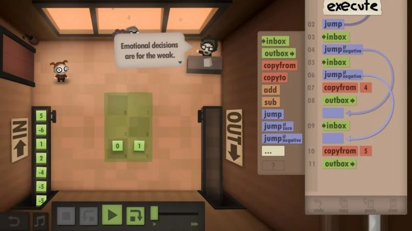Human Resource Machine will trick you into learning programming