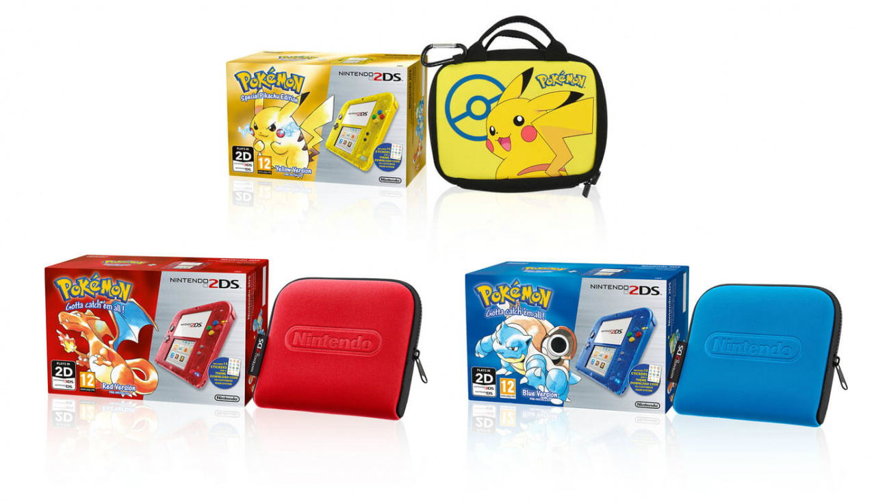Pokmon Yellow Red And Blue 2DS Bundles Now Up For Pre