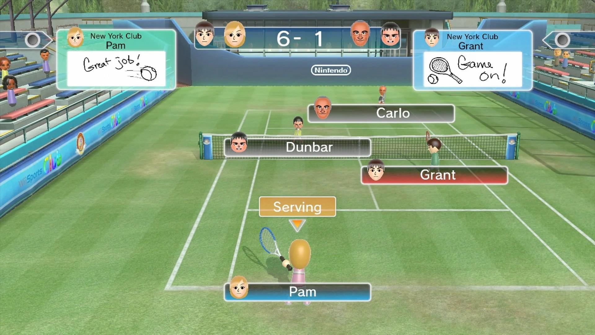 Wii Sports Club Tennis Wii U EShop News Reviews