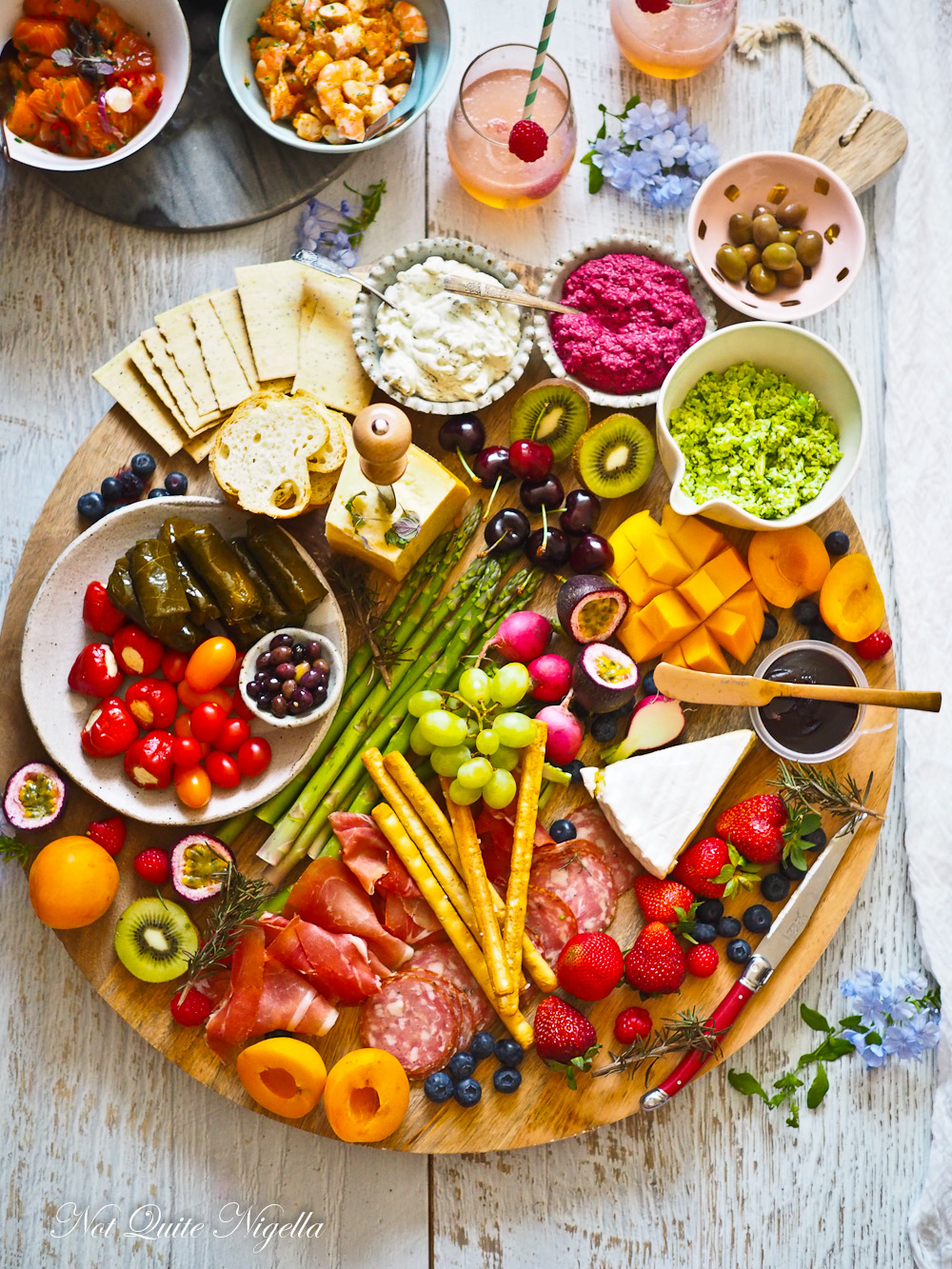Healthy New Year's Party Platter @ Not Quite Nigella