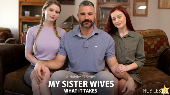 NubilesET.com - Bunny Colby,Danni Rivers: My Sister Wives What It Takes - S1:E10
