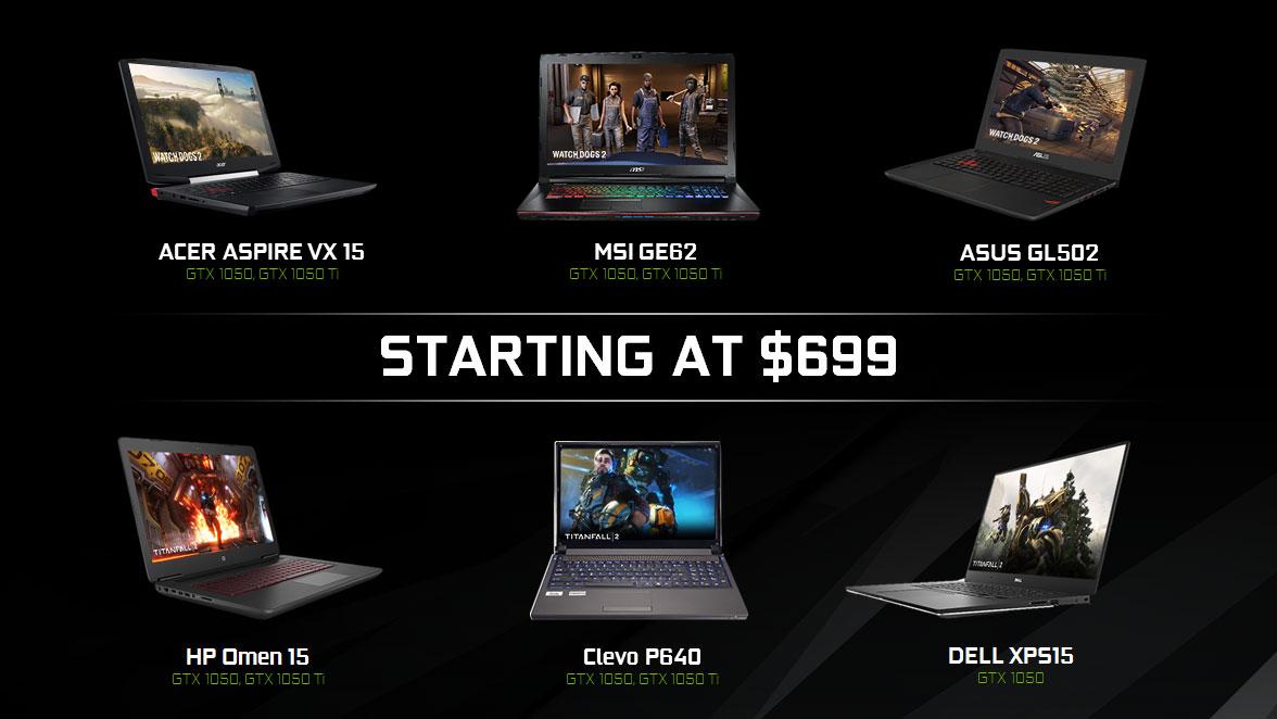 GeForce GTX 1050 和 1050 Ti 降臨筆記型電腦 | GeForce