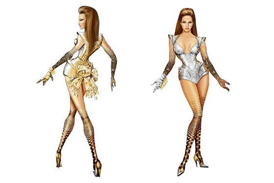 Behold: Thierry Mugler's 'Sasha Warrior' Costumes for Beyoncé!