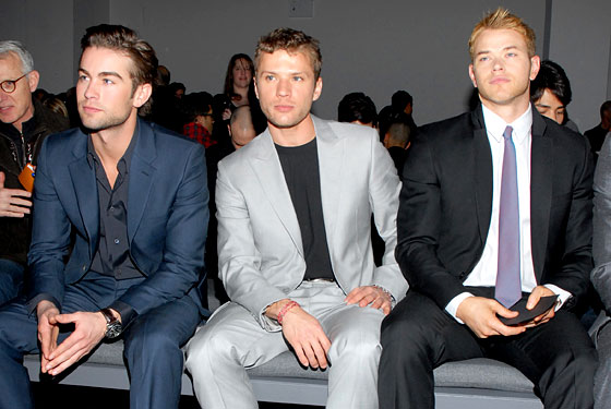 From left, Chace Crawford, Ryan Phillippe, and Kellan Lutz.