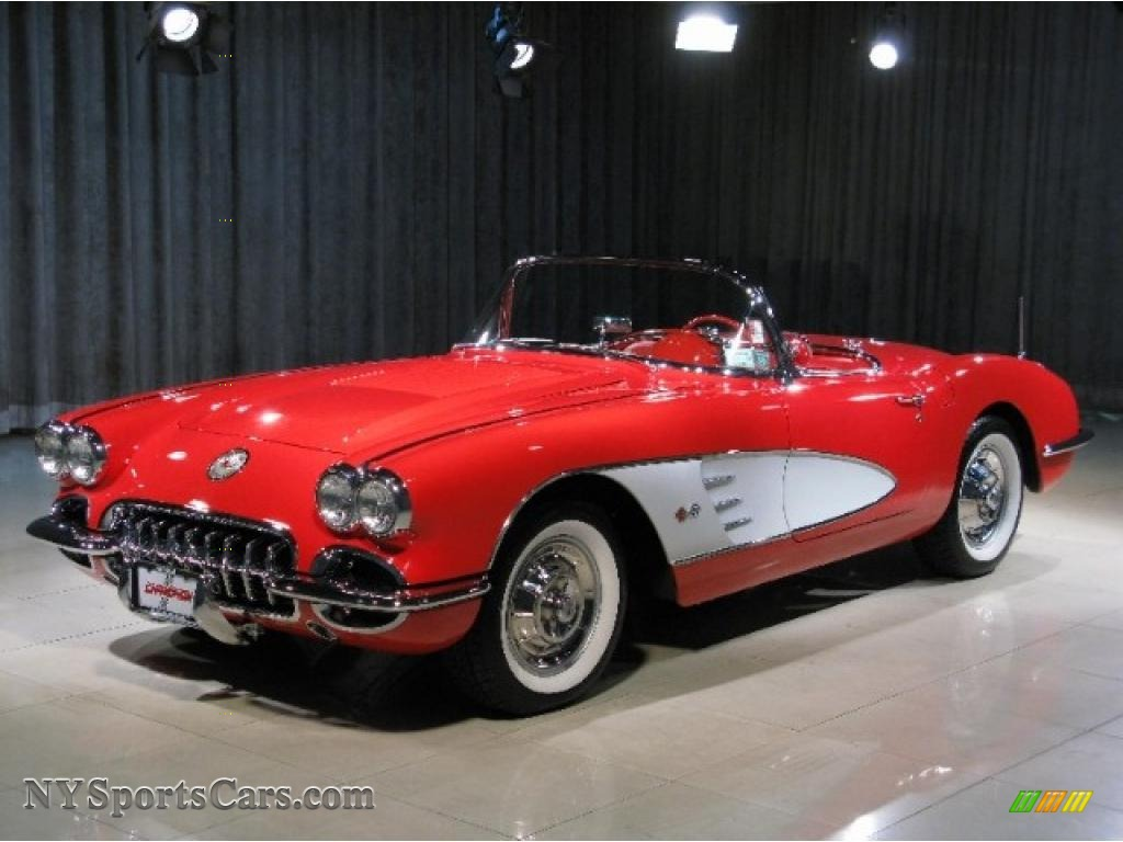 1958 Chevrolet Corvette Convertible In Signet Red 100006
