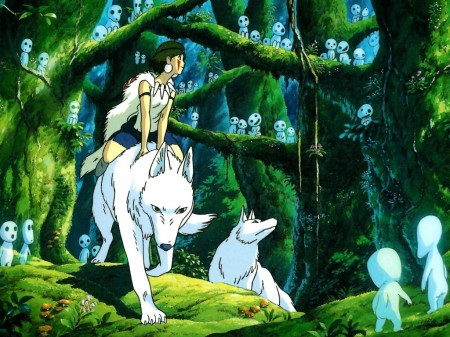 Imagen de Mononoke Hime donde se aprecia el gran talento de sus creadores