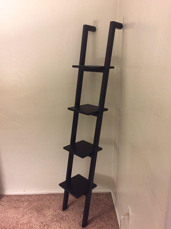 Black Ikea Rexbo Ladder Shelf Display For Sale In Huntington Beach Ca Offerup