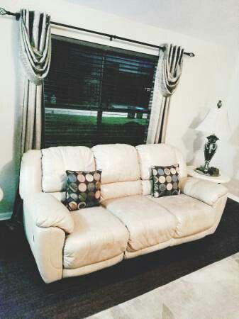 cape coral classy beige ashley furniture leather reclining sofa and loveseat furniture in fort myers fl offerup