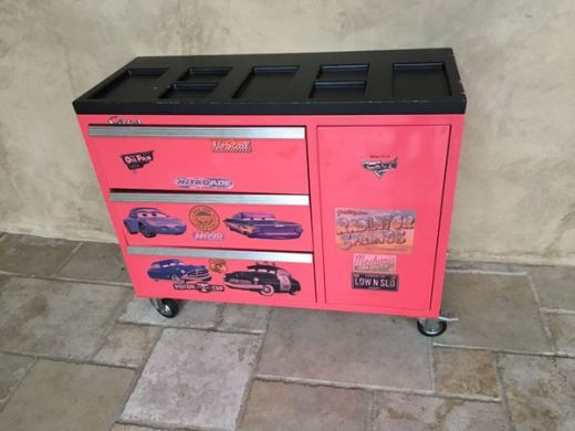 Red metal Disney CARS dresser toy box tool box for Sale in Escondido     Open in the AppContinue to the mobile website