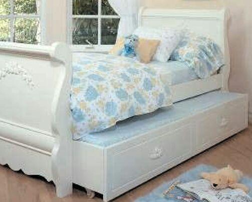 Trundle twin sleigh bed, nightstand, armoire & desk/vanity ... on Costco Furniture Showroom Kirkland Washington id=64713