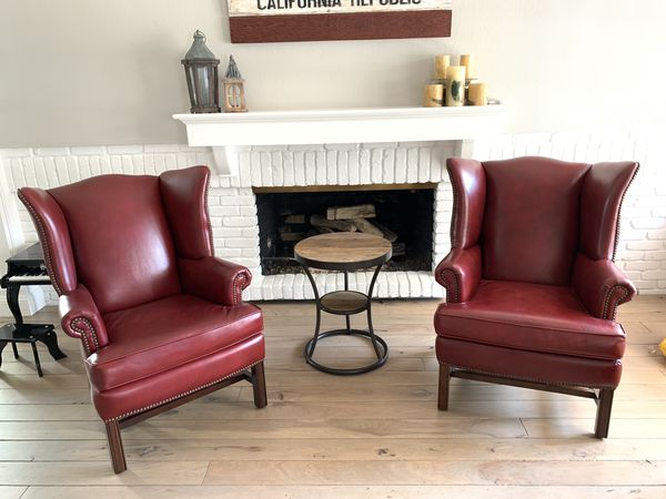 Pottery Barn Thatcher Leather Chairs For Sale In Newport
