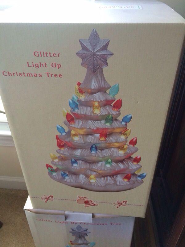 Cracker Barrel Light Up Ceramic Christmas Tree 18 Inches