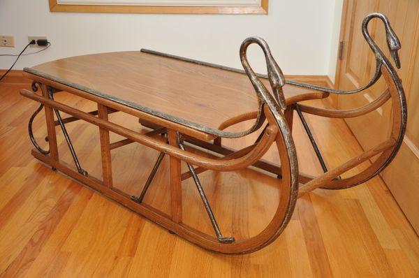 chair co swan sleigh coffee table