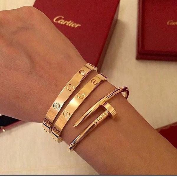 Cartier love bracelet 18 k gold and silver with diamonds and without     Cartier love bracelet 18 k gold and silver with diamonds and without  that  price is for 1 bracelet   for Sale in San Leandro  CA   OfferUp