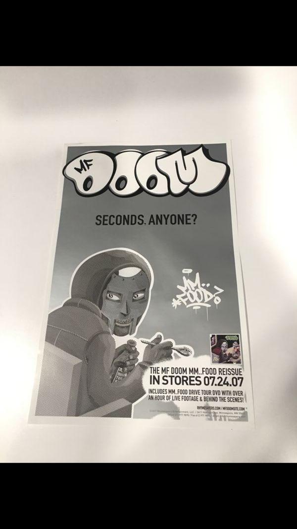 mf doom mm food poster for sale in las
