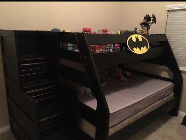 reduced batman bunk beds twin over full
