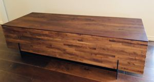 west elm mixed wood coffee table for