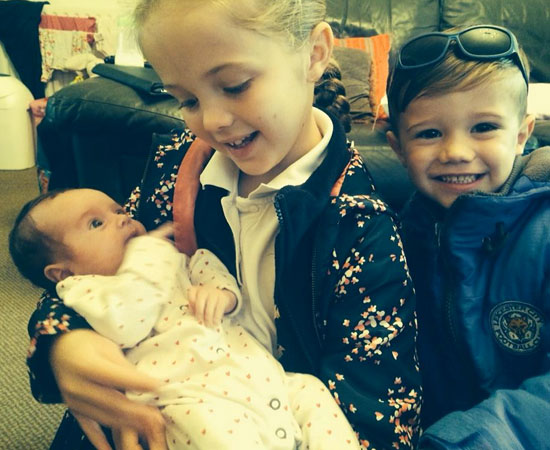 The X Factor winner recently gave birth to her third child Miley [Sam Bailey/Twitter]