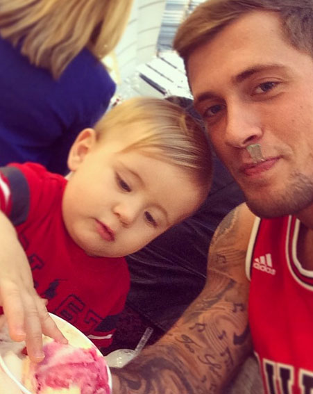 The TOWIE star is forever doting on his son Teddy with Megan [Instagram/Dan Osborne]