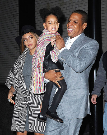 The daughter of pop royalty Beyonce and Jay-Z is called Blue Ivy [Rex]